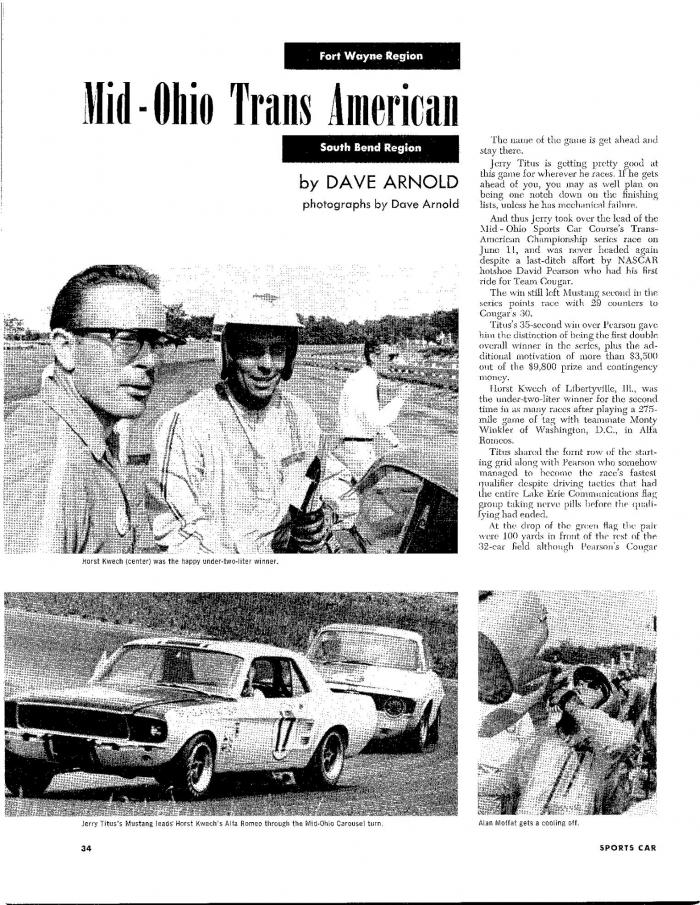 L'équipe de course Terlingua de Shelby-American en 1967 19672010