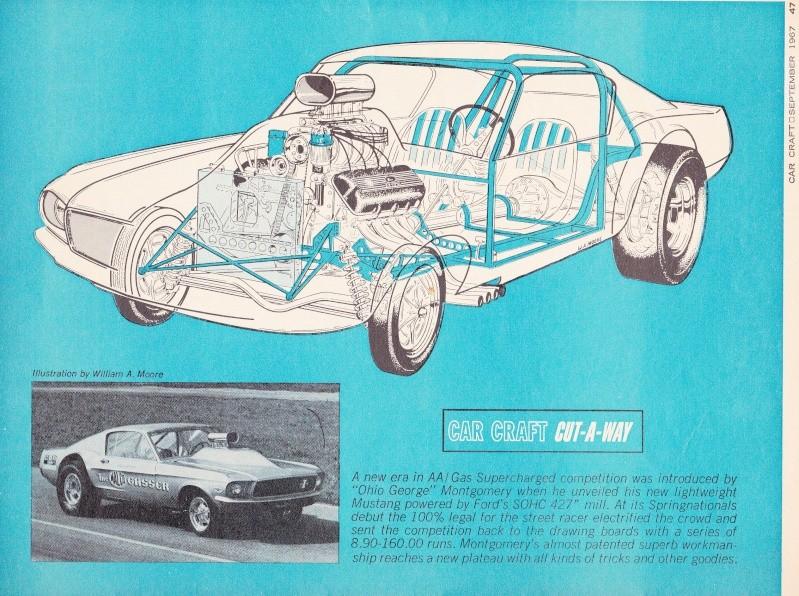 """Ohio George"" Montgomery- 1967 lightweight fiberglass Mustang-The Malco Gasser 67gass10"