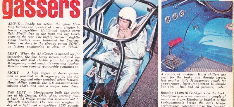 """Ohio George"" Montgomery- 1967 lightweight fiberglass Mustang-The Malco Gasser 67gass12"