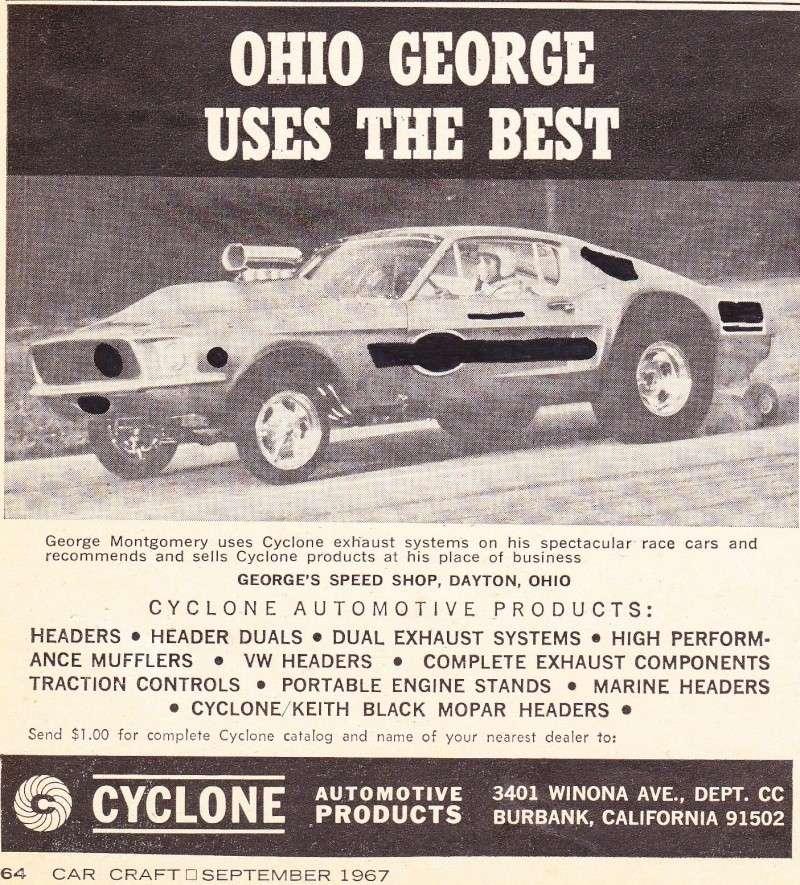 """Ohio George"" Montgomery- 1967 lightweight fiberglass Mustang-The Malco Gasser 67gass14"