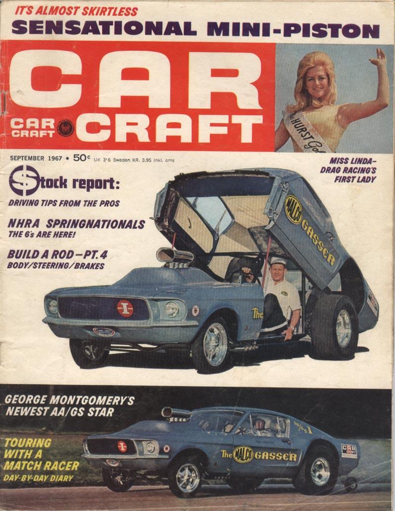 """Ohio George"" Montgomery- 1967 lightweight fiberglass Mustang-The Malco Gasser Cc670910"