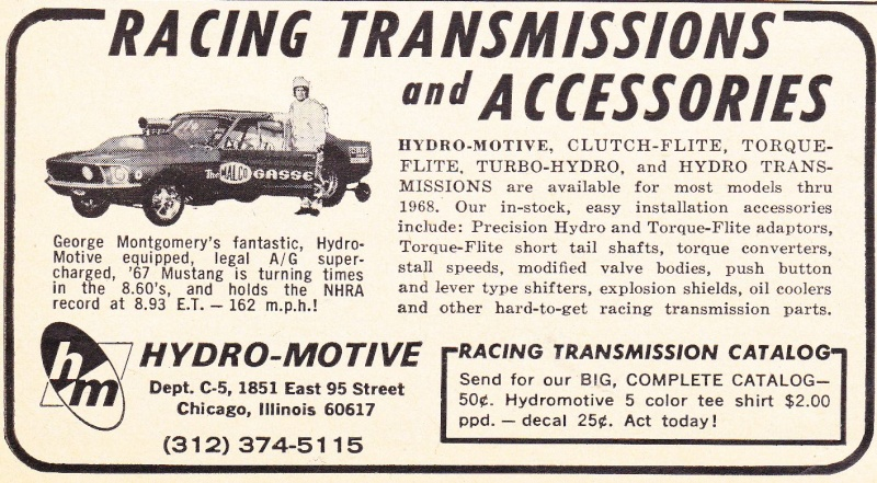 """Ohio George"" Montgomery- 1967 lightweight fiberglass Mustang-The Malco Gasser Pub_2610"