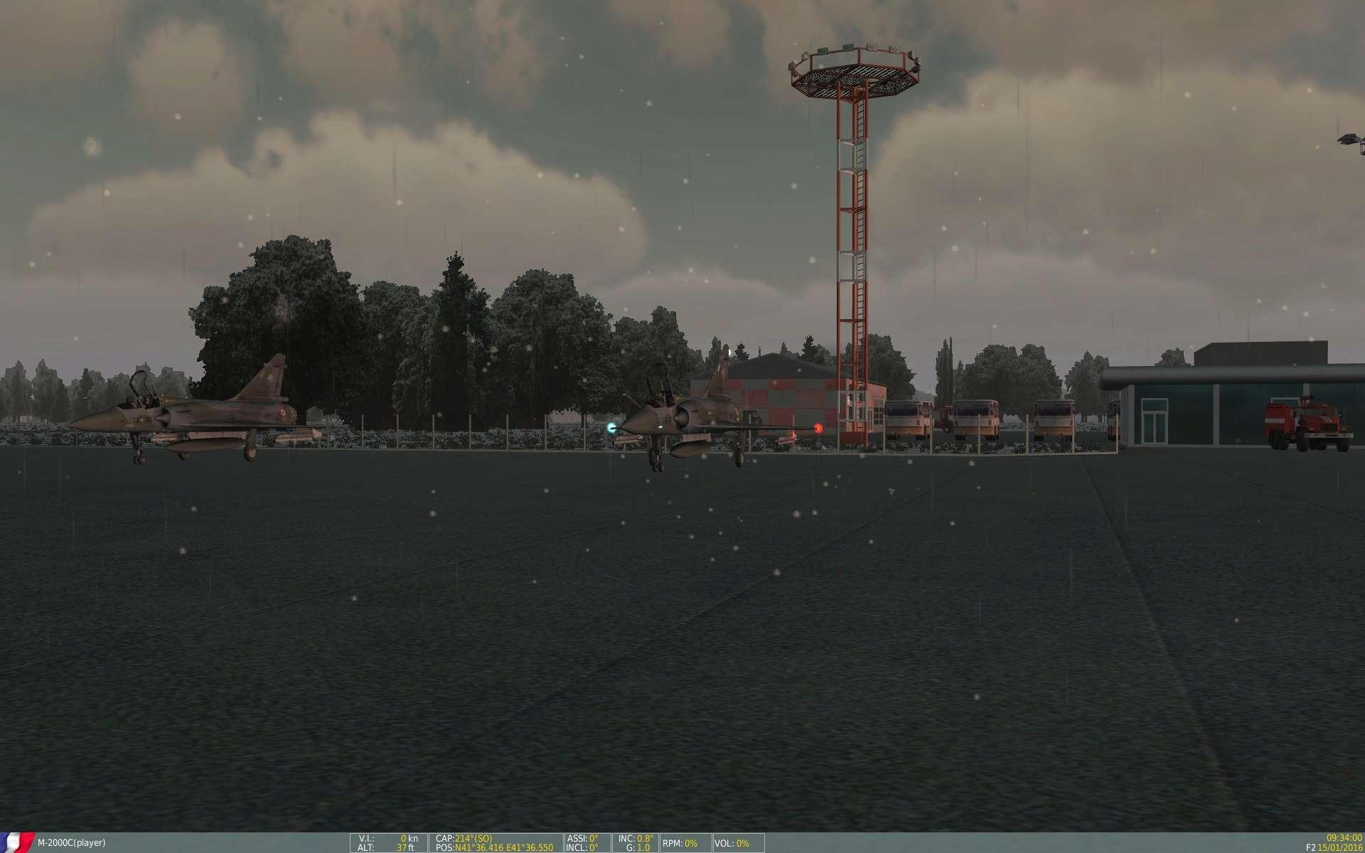 De la neige aussi sur DCS Screen12