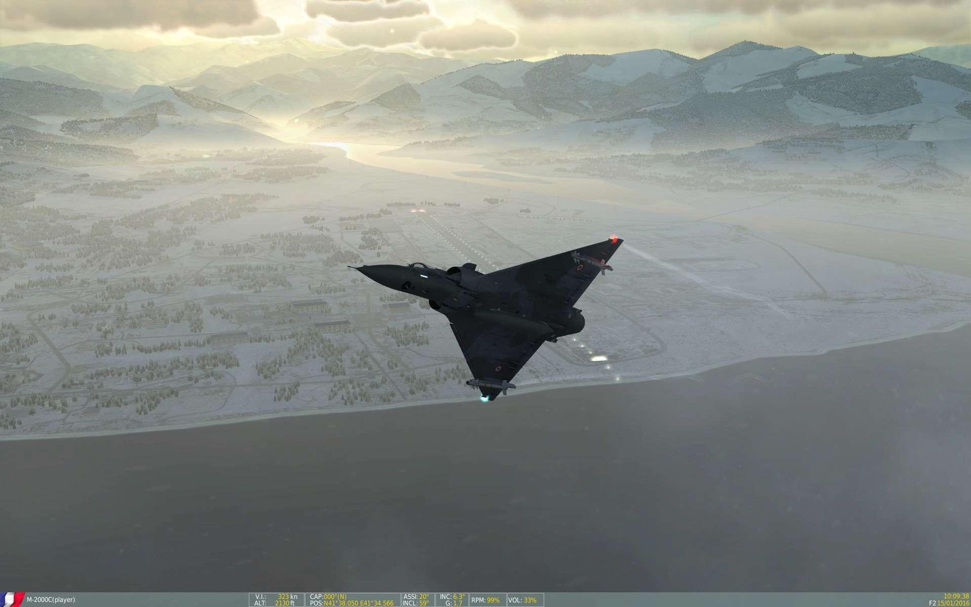 De la neige aussi sur DCS Screen14