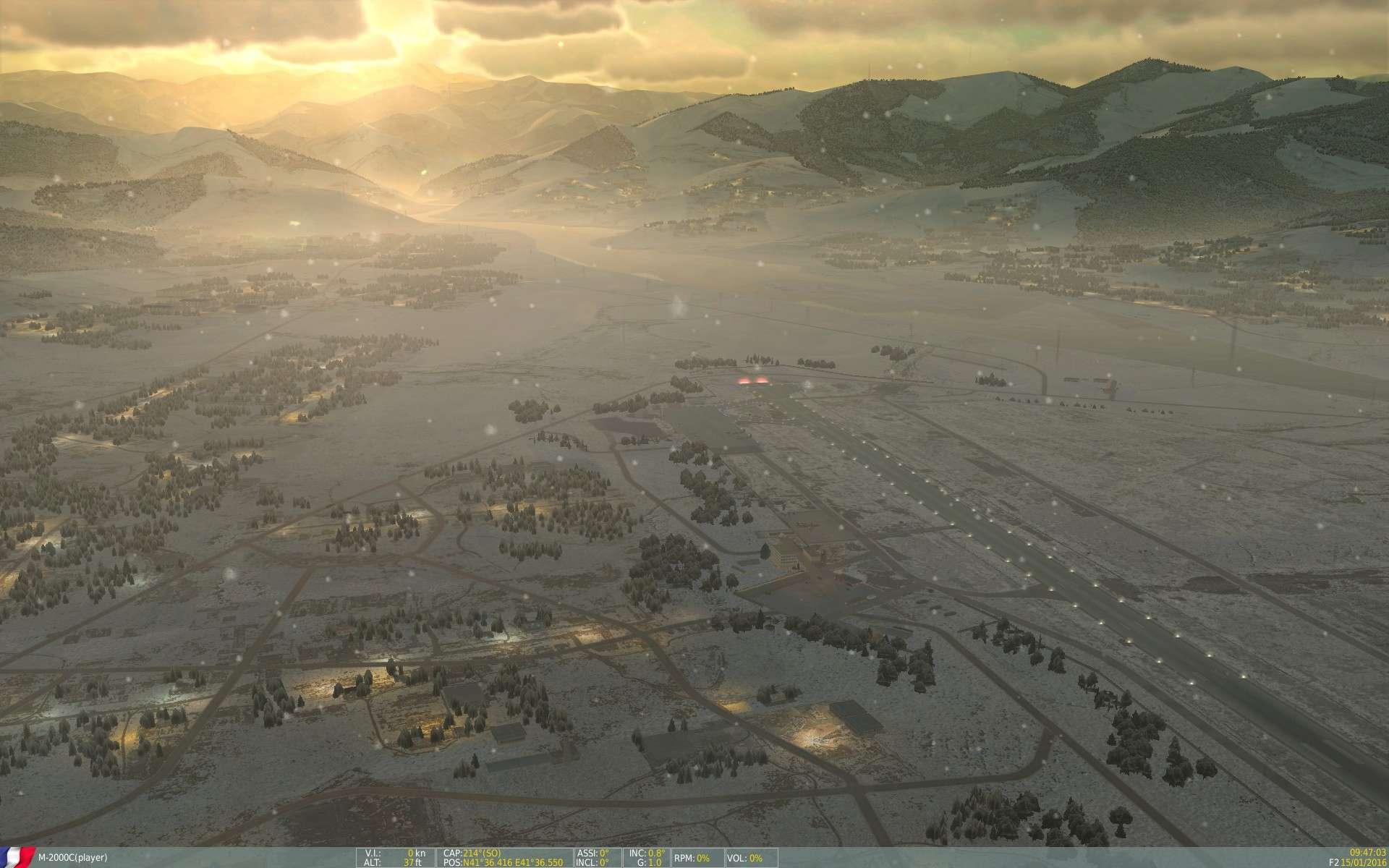 De la neige aussi sur DCS Screen16