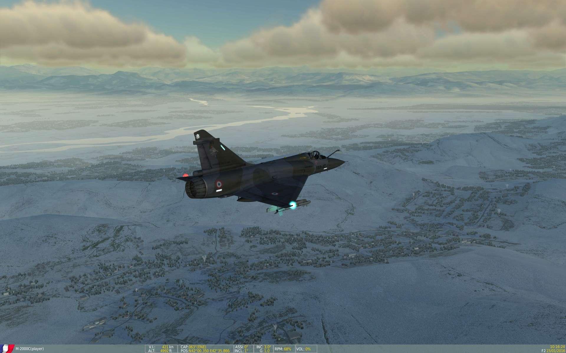 De la neige aussi sur DCS Screen23