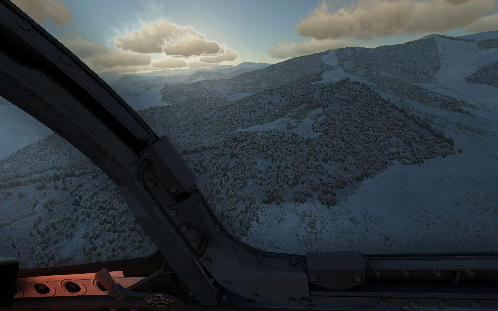 De la neige aussi sur DCS Screen24