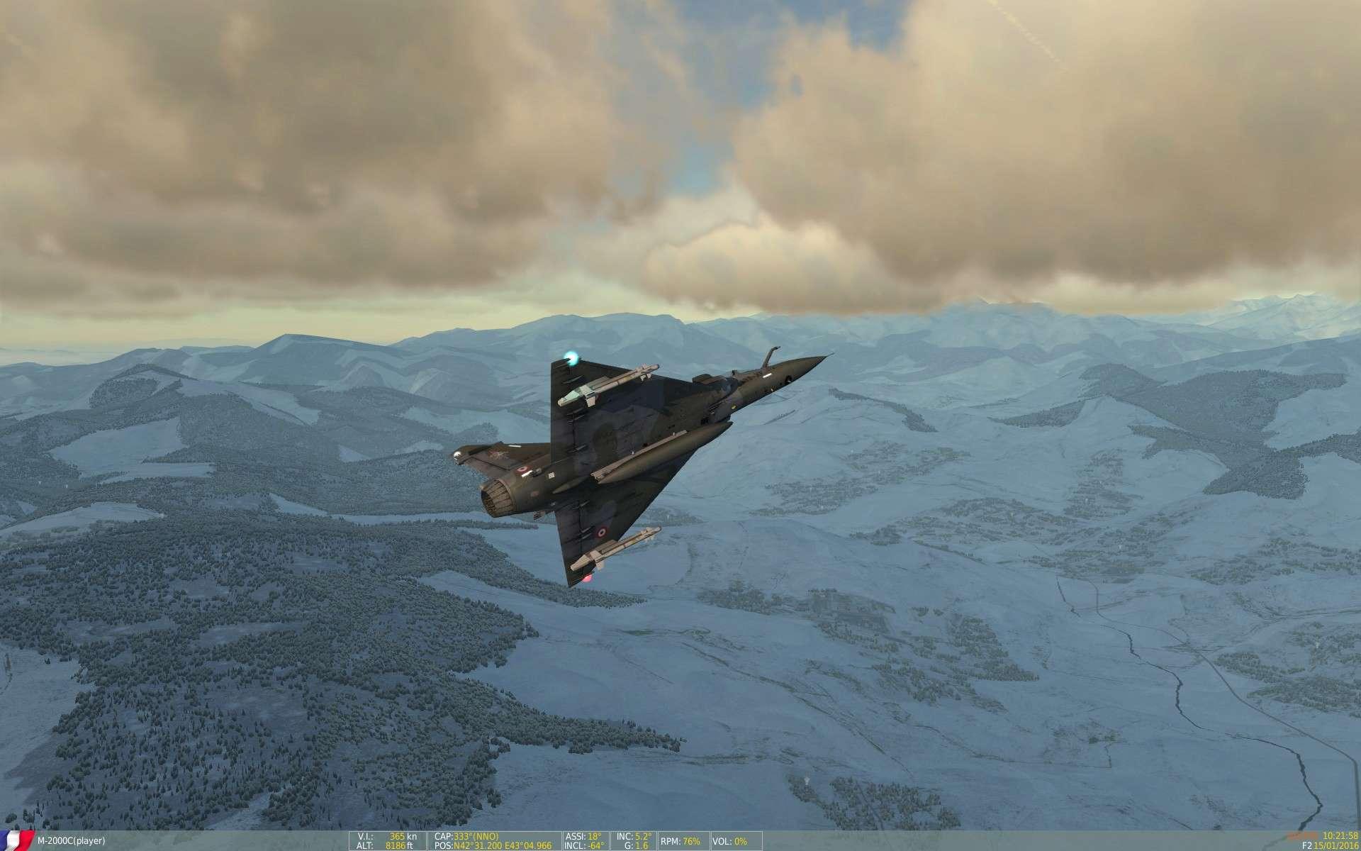 De la neige aussi sur DCS Screen26