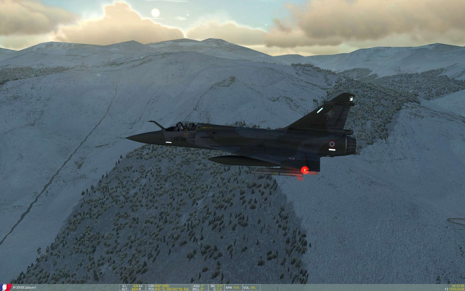 De la neige aussi sur DCS Screen27