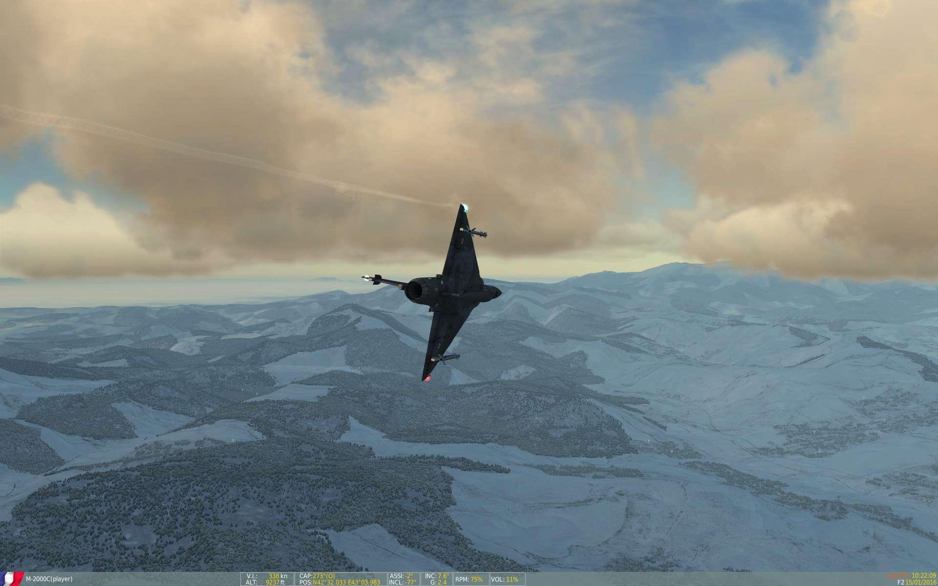 De la neige aussi sur DCS Screen38