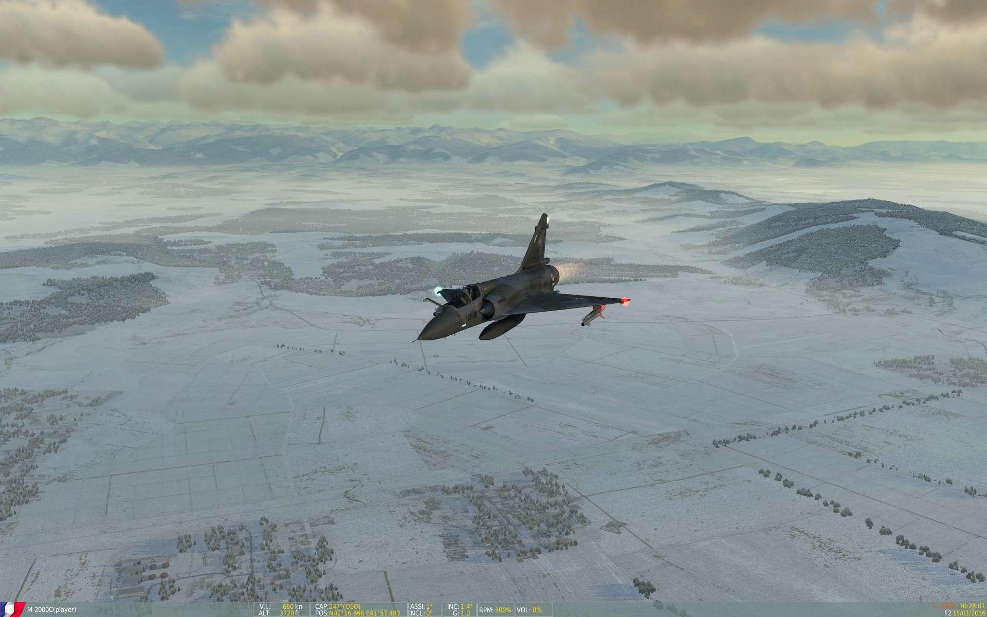 De la neige aussi sur DCS Screen39