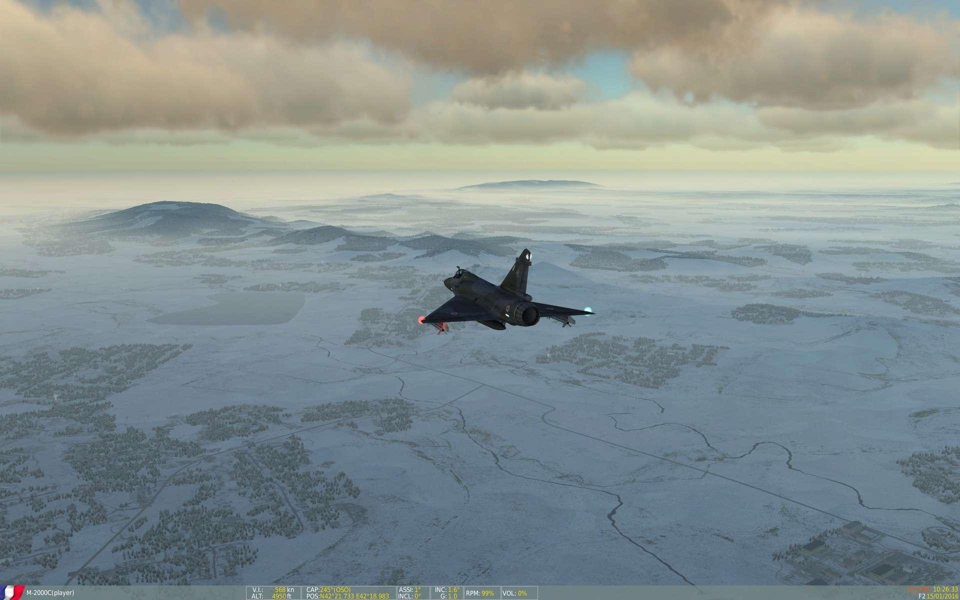 De la neige aussi sur DCS Screen40