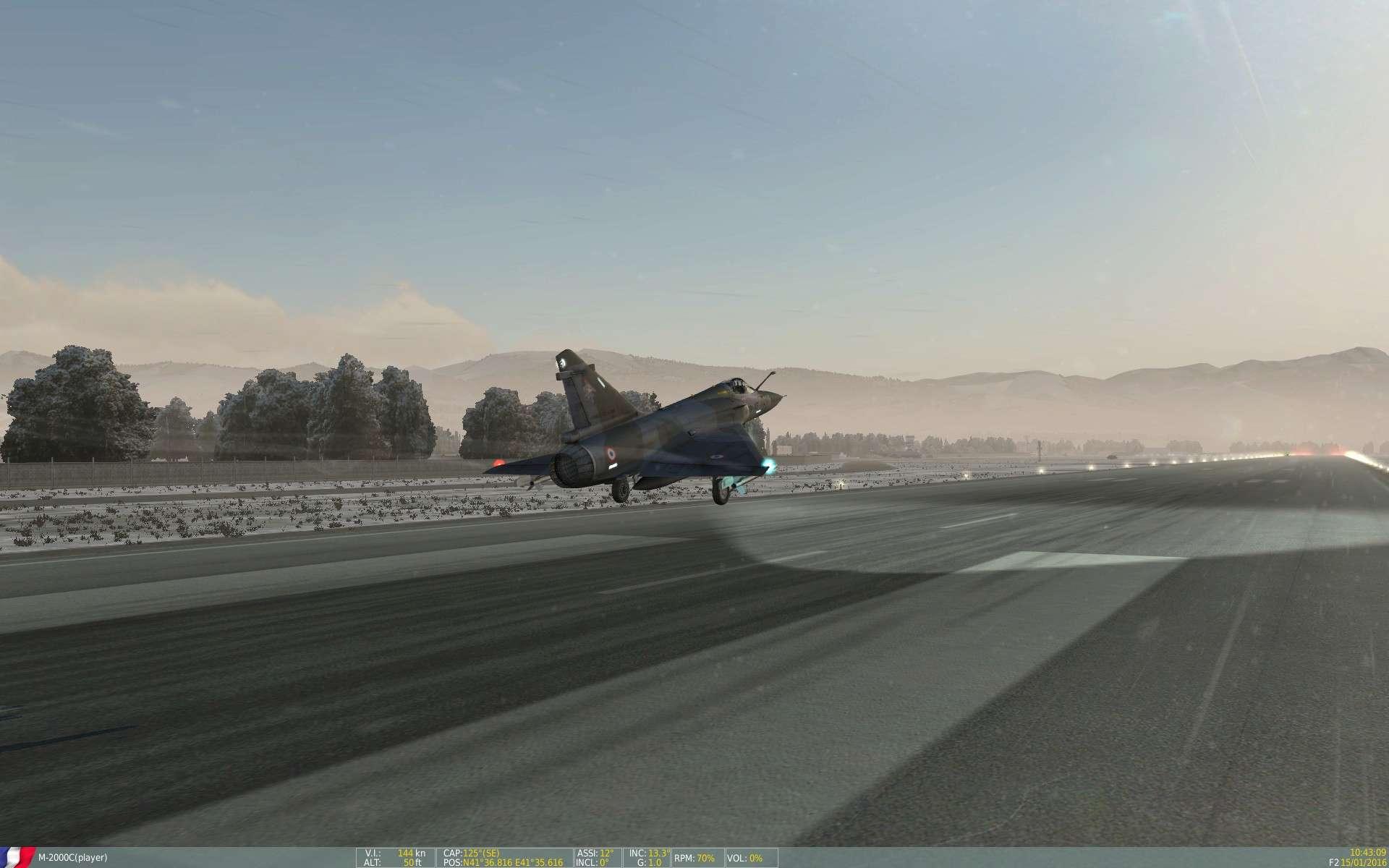 De la neige aussi sur DCS Screen50