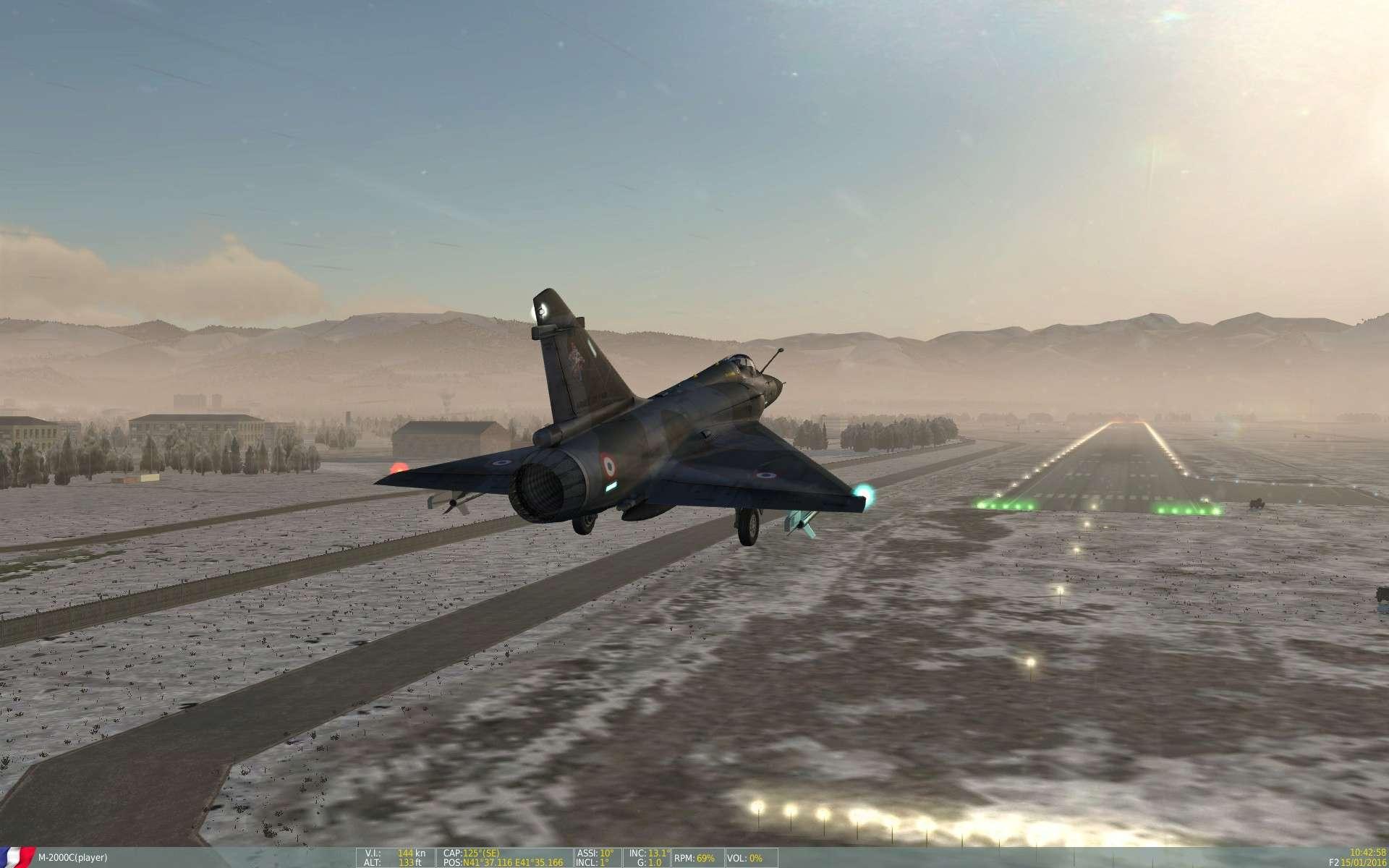 De la neige aussi sur DCS Screen51