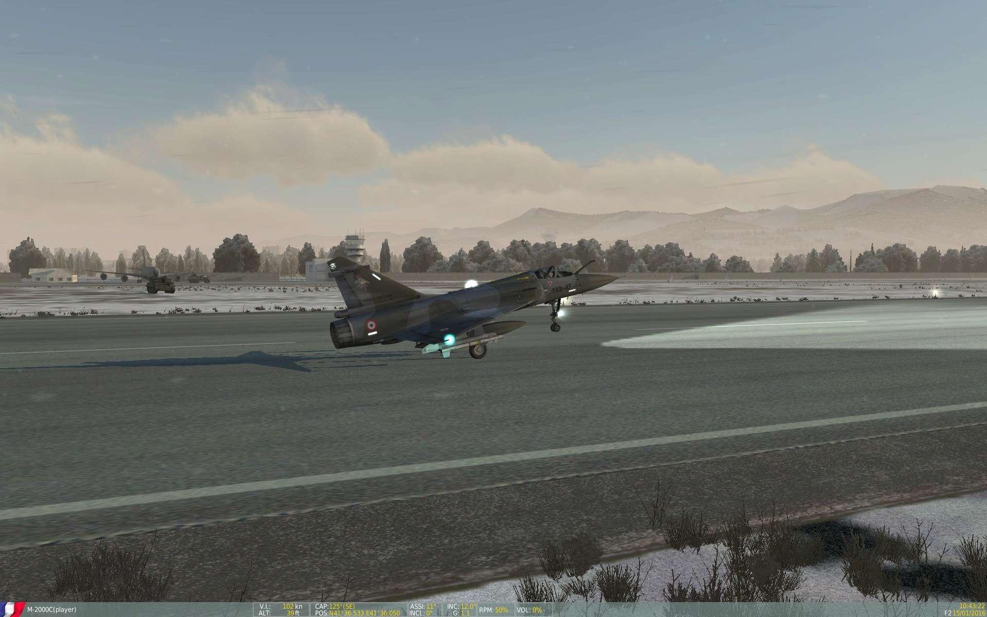 De la neige aussi sur DCS Screen55