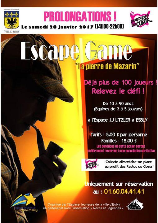 Téléthon et Restos du Coeur à Esbly avec Rêves et Légendes  Escape10