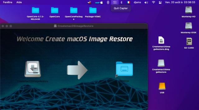 Create macOS Image Restore 124