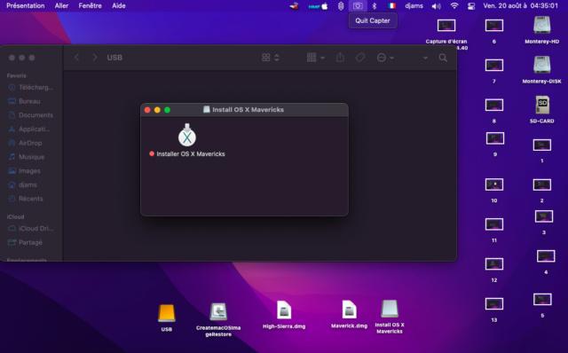 Create macOS Image Restore 1511