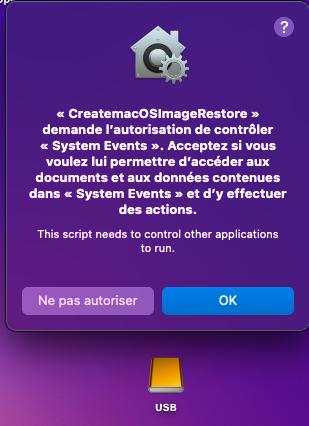 Create macOS Image Restore 1610