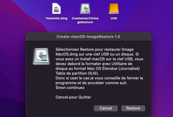 Create macOS Image Restore 1913