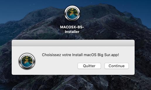 [résolu] Problème upgrade Catalina vers BS avec MACOSX-BS-Installer / OC 710