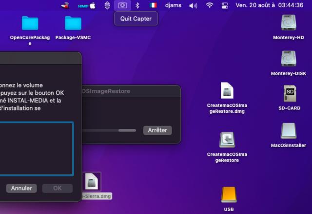 Create macOS Image Restore 813