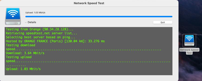 Network Speed Test Capt1142