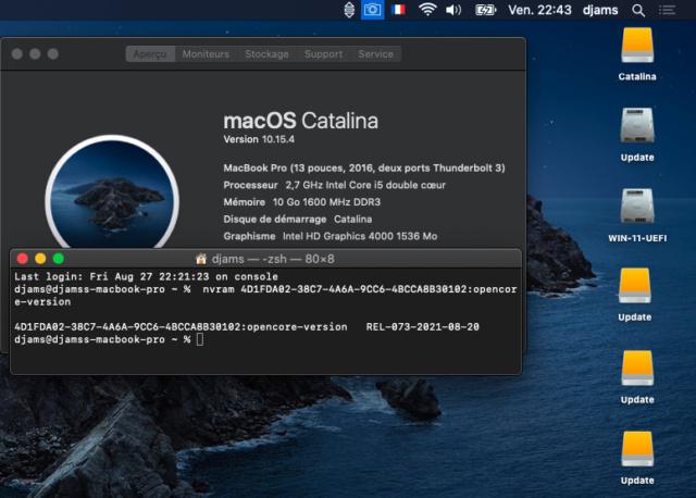 Tuto triple boot macOS avec opencore 073 Capt1186