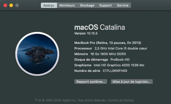 MacOS Big Sur ,  BIO F74 ( HP 6570b ) 100% Captu165