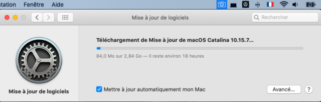 Mise a jour macOS Catalina 10.15.7 (19H2) Captu343
