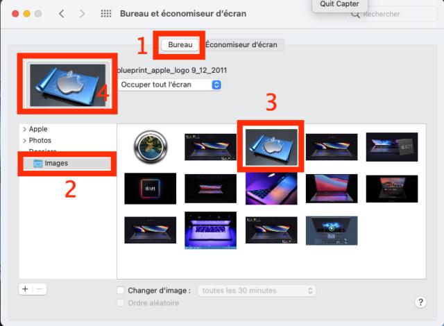 Fond d'ecran sous MacOS BigSur - Post solutionné Captu482