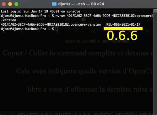 Connaitre sa version OpenCore  Captu567