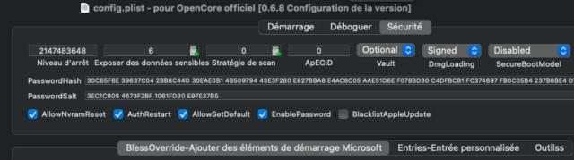 Lock / Password 0.6.9 / 070  soucis Captu850