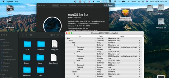 Attention !! Mise à jour beta macOS 11.1 Captu920