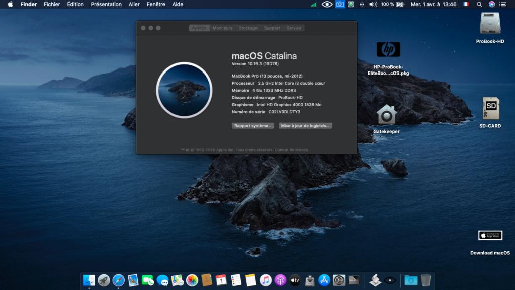 installation réussi sur HP 6570b i3 Captur45