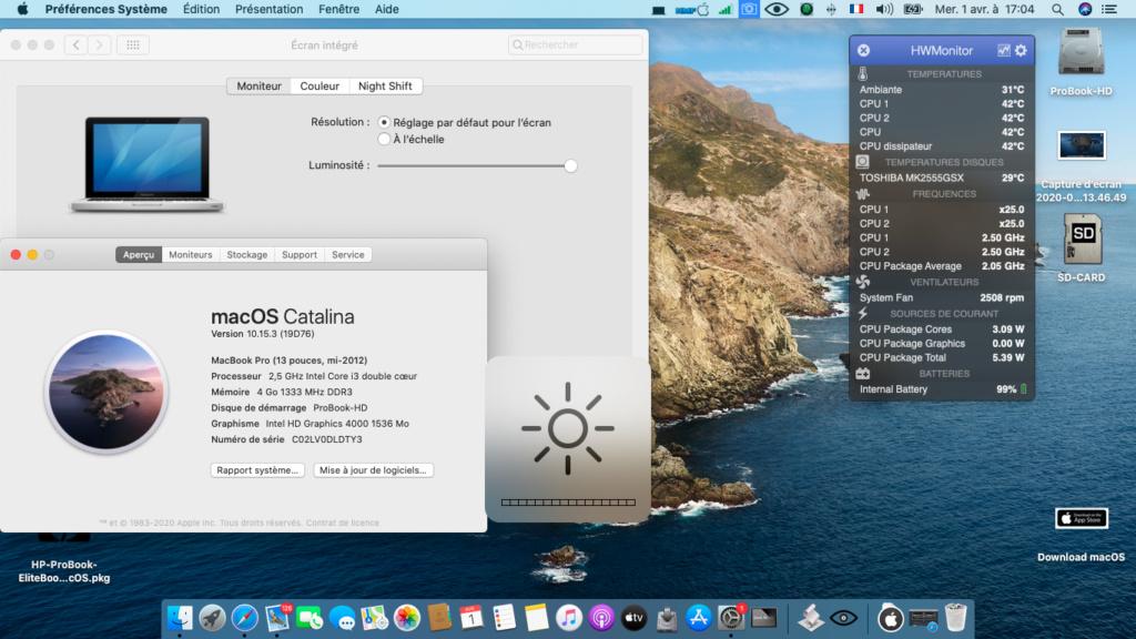 installation réussi sur HP 6570b i3 Captur46