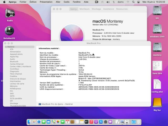 macOS Monterey 12.0 / 12.1 / 12.2 / 12.3 / 12.4 Beta Clover10