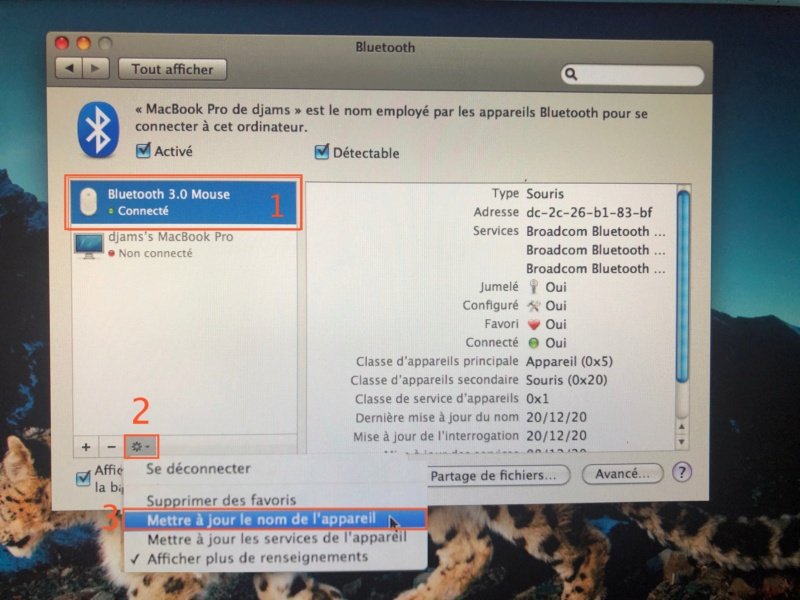 Bluetooth changer le nom  Img_5612