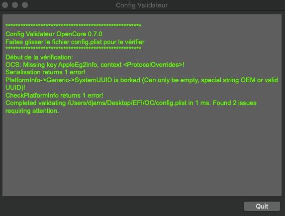 Problème installation big sur Sans_126