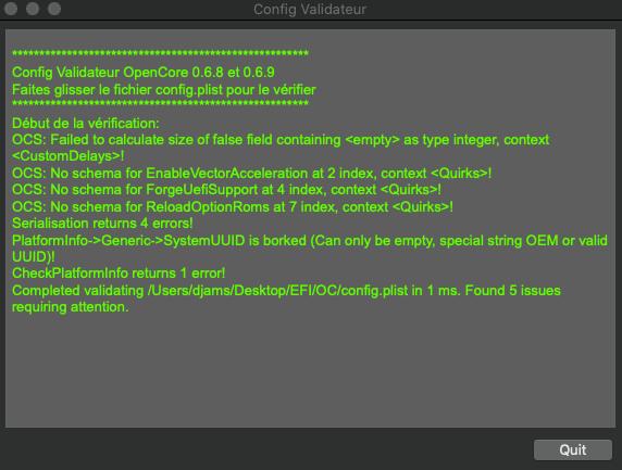 Problème installation big sur Sans_127