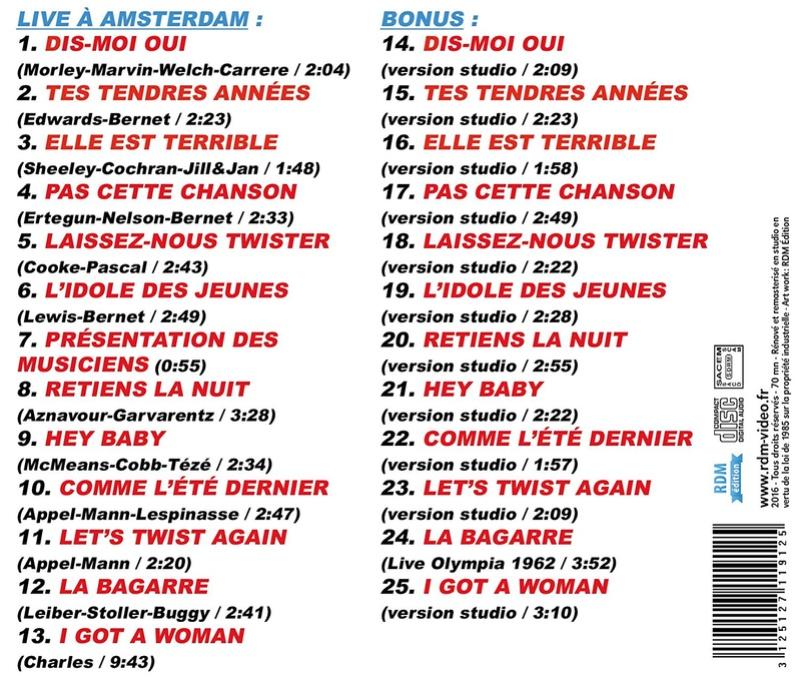 SORTIE CD AMSTERDAM 1963 81zqvn10