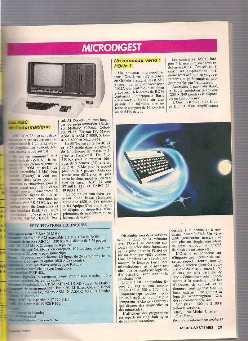 Articles sur l'Oric dans les revues Micro Systemes Scan_010