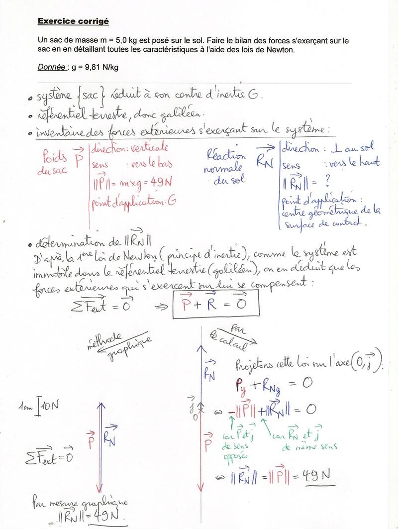 Exo-type: 1ere loi de Newton Numyri19
