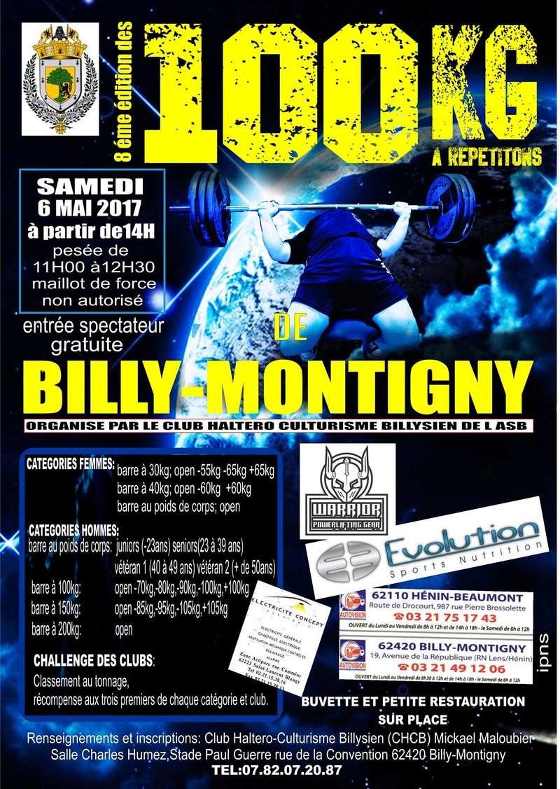 2017 -  8ème édition des 100 KG DE BILLY-MONTIGNY le 6 mai 2017 Affich11