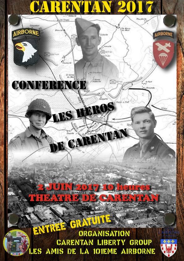 Conférence sur la libération de Carentan Affich10