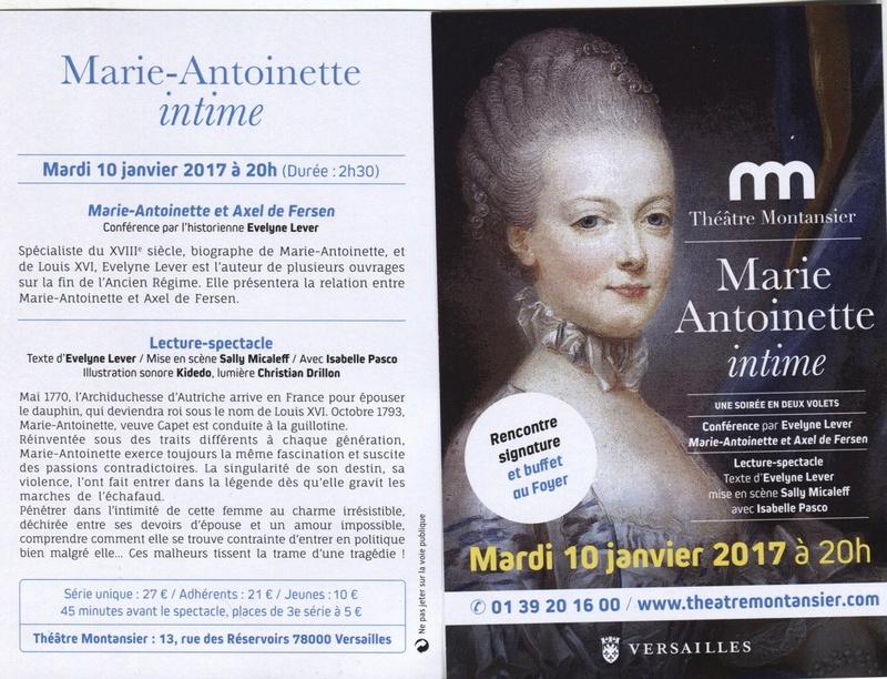 Marie-Antoinette intime, au Théâtre Montansier - Page 2 Montan11
