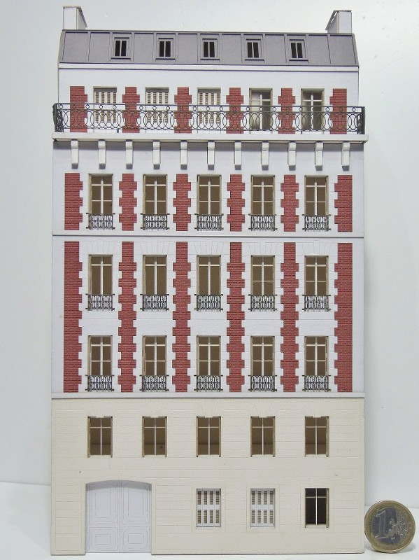 [Architecture & Passion] SERIE D'IMMEUBLES fond de décor 1/87 87vil111