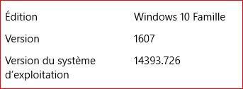 Mise à jour cumulative Windows 10 Maj_510
