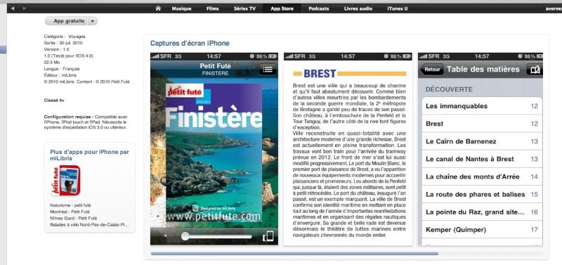 une application Iphone sur le Finistère Finist10