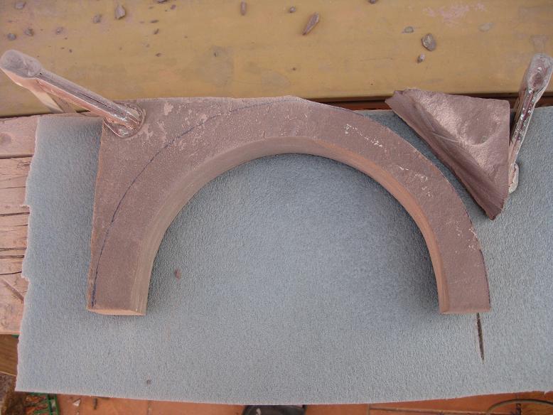 Construcció d'una boca de tunel de pedra (vermella)-(FFCC de la Terrassa) Arc_1110